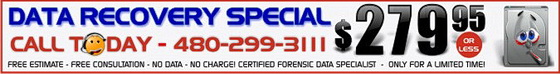 Chandler Data Professionals Data Recovery Special 279.95